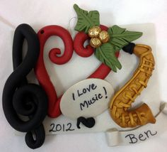Polymer Clay Music Christmas Ornament