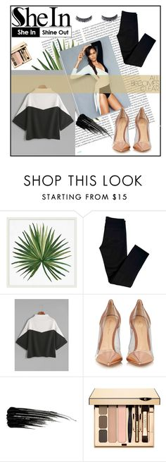 """""""Color Block Mock Neck Slit Side Cuffed T-shirt"""" by sandraa-jwoww ❤ liked on Polyvore featuring Oris, Pottery Barn, J Brand, Gianvito Rossi and Urban Decay"""