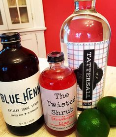 Making one of our favorite cocktails for friends tonight...a Twisted Shrub & Tonic using a couple of our favorite #minnesotamakers: @blue_henn tonic syrup and @tattersalldistilling gin! Cheers! #shrubs #cocktailcatalyst