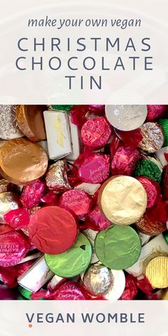 Is there a vegan equivalent to Quality Street, Celebrations or Roses?  Sadly no, but you can make your own chocolate tin! Buy a pretty tin or a box of biscuits and eat those and use the empty tin!  We get this question every year in our community Facebook Group so thought we would put an article together.