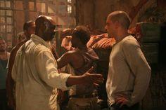 Still of Wentworth Miller and Robert Wisdom in Prison Break (2005)