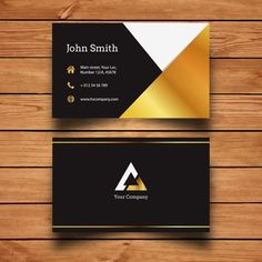 Free vector john doe business cards httpcgvectorfree template carto de visita dourado free business card reheart Choice Image