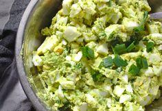 Pasta jajeczna z awokado | Słodkie Gotowanie Lettuce, Sweet Recipes, Potato Salad, Food Porn, Food And Drink, Low Carb, Herbs, Pasta, Vegetables
