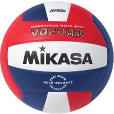 a96bfe52a Mikasa Plus Nfhs Competition Indoor Volleyball, Red. Team Sports
