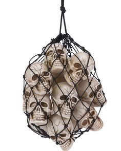 They're off their heads! Hang these spooky skulls anywhere to scare your guests! #halloween2013