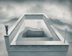 Impossible escape. by Erik Johansson