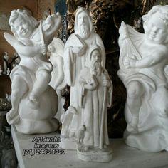 11 de julho, dia de São Bento. #SãoBento #SaoBento #artesacra #artesanato #gesso #escultura RiodeJaneiro