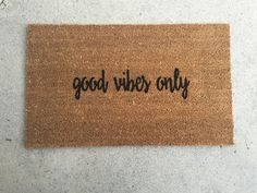 Good Vibes Only Doormat, Door Mat, doormats, home and living, as seen on instagram, coco, coir, 18x30