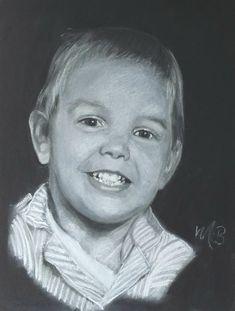 Kinderportret getekend met softpastel op zwart papier A3 formaat George Michael, A3, Pastels, Meet, Art