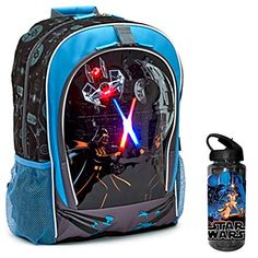 Disney Star Wars Kids Light Up School Backpack   Tritan Water Bottle - 2  Piece Set 6be6c38b5e