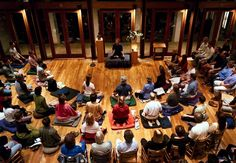 Buddhist and meditation teacher Tara Brach leads a Vipassana meditation group at the River Road Unitarian Church in Bethesda.  Sara Lazar, a neuroscientist at Massachusetts General Hospital and H…