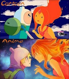 difference The difference between cartoon and anime. anime is betterThe difference between cartoon and anime. anime is better Anime Vs Cartoon, Cartoon Shows, Anime Shows, Cartoon Art, Time Cartoon, Art Adventure Time, Image Fairy Tail, Flame Princess, Punk Princess
