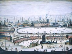 The Pond 1950, LS Lowry, oil on canvas