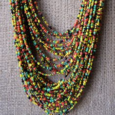 fine strands of African beads
