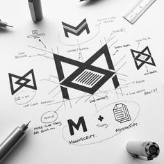 THE MANUSCRIPT DR . We teach - not correct. An editors job is to understand what kind of story the writer intends and to then give that… Dr Logo, Logo 3d, Logo Branding, Branding Design, Typography Design, Logo Sketches, Logo Desing, Logo Process, Great Logos
