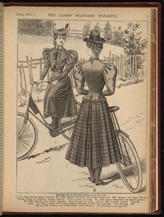 cycling costume... I love this one! Inspiration for one of my next tweed ride outfits.