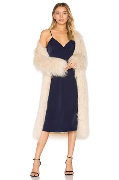 House of Harlow 1960 x REVOLVE Marisa Faux Fur Coat in Ivory | REVOLVE