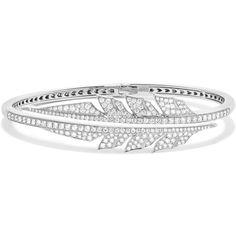 Stephen Webster Magnipheasant 18-karat white gold diamond bracelet (378 930 UAH) ❤ liked on Polyvore featuring jewelry, bracelets, diamond jewelry, stephen webster, stephen webster jewelry, drusy jewelry and white gold jewellery
