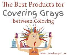 Gray Away root concealer instantly covers gray roots between hair ...