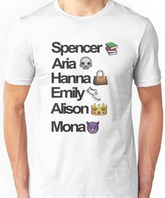 Pretty Little Liars Emoji Unisex T-Shirt