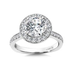 - Diamond Halo Engagement Ring in White Gold with Platinum Head ct. Classic Engagement Rings, Halo Diamond Engagement Ring, Fashion Rings, Diamond Jewelry, White Gold, Bling, Diamonds, Style, Diamond Jewellery
