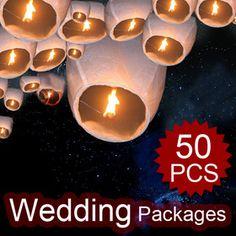 Aspire White Sky Lanterns, Wishing Lanterns (Wholesale Lot), Price/50 Pcs