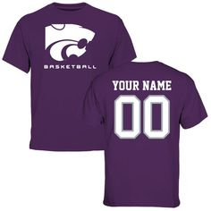 Kansas State Wildcats Personalized Basketball T-Shirt - Purple - $37.99