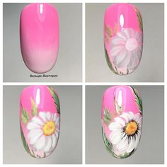 """Determine additional relevant information on """"top nail art designs Check out our website. Flower Nail Designs, Nail Art Designs, Love Nails, Fun Nails, Kathy Nails, Tulip Nails, Sunflower Nail Art, Nail Polish Style, Nail Art Design Gallery"""