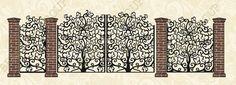 Предмет: металлический рисунок, полученный в результате художественной обработки листа металла. Дизайнер: Ольга Материал: панно выполняется из г/к лис