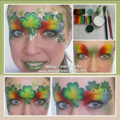 St. Patrick's Day face painting tutorial