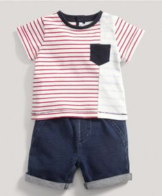 Boys Blue Two Piece Jersey Set