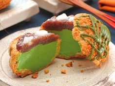 JAPANESE STYLE CONFECTION : MACHA CREAM PUFF ICE / TSUJIRIICHIHONTEN