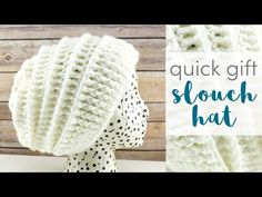 Fiber Flux: Quick Gift Slouch Hat Weeks of Gifting Series), Free Crochet Pattern + Video Easy Crochet Hat, Crochet Headband Pattern, Crochet Gifts, Crochet Hooks, Free Crochet, Knit Crochet, Crocheted Hats, Crochet Granny, Crochet Stitches