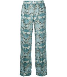For Restless Sleepers Etere Trousers - Blue Silk Trousers Blue Trousers, Silk Pants, Blue Pants, Trousers Women, For Restless Sleepers, Colored Pants, Ootd Fashion, Business Casual, Pajama Pants