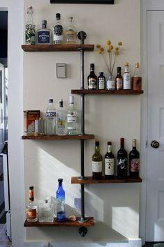 bottle tree liquor shelf by on etsy