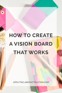 A vision board is a key tool to make the law of attraction work. Learn how to create a vision board and a vision board notebook with this easy guide.