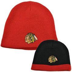 dc5e1fec31f NHL LNH Reversible Zephyr Cuffless Beanie Knit Nordic Hat Chi Chicago  Blackhawks by Zephyr.  14.95