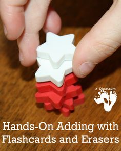 Hands-On Adding with Flashcards and Erasers - 3Dinosaurs.com