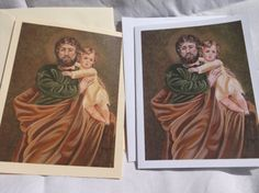 St. Joseph with Child Jesus Note Cards from by goodshepherdfibers
