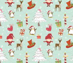 Christmas Icons fabric by lesrubadesigns on Spoonflower - custom fabric
