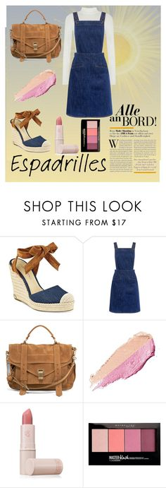 """""""espadrilles"""" by homopomogay ❤ liked on Polyvore featuring Ivanka Trump, M.i.h Jeans, Proenza Schouler, By Terry, Lipstick Queen and Maybelline"""