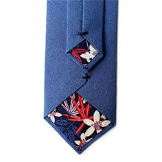A personal favourite from my Etsy shop https://www.etsy.com/uk/listing/524418265/heather-blue-tie-with-liberty-print
