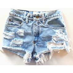 Love distressed shorts, but hate high waisted
