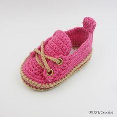 Del ganchillo zapatos de bebé zapatos de bebé por BUBUCrochet