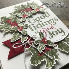 Good Tidings Stamp Set Takes the Stage for the Global Design Project 106 on Stampin' Hoot! Card designs and daily inspiration by Stesha Bloodhart