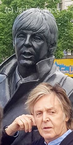 New post - Paul McCartney posing with Younger Paul in Liverpool today. - has been published on Beatles in London Blog http://blog.beatlesinlondon.com/paul-mccartney-posting-with-younger-paul-in-liverpool-today/