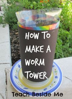 Science - Making a Worm Tower How to make a worm tower.How to make a worm tower. Science Activities For Kids, Preschool Science, Spring Activities, Stem Activities, Life Science, Learning Activities, Science Ideas, Science Experiments, Science Fun