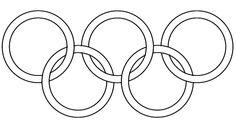 Koła Olimpijskie kolorowanka