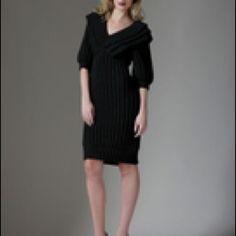 Fendi Black Wool Knit Sweater Dress 12/46 NWT Fendi Black Wool Knit Sweater Dress, size 12 US/46, NWT FENDI Dresses