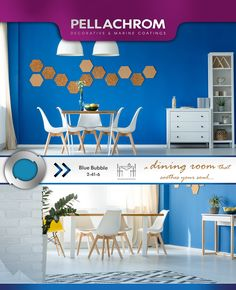 Dining Room Blue, Color Combinations, Bubbles, Home Decor, Laughing, Color Combos, Decoration Home, Room Decor, Colour Combinations